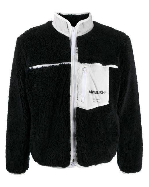 Ambush Black Faux-fur Logo Jacket for men
