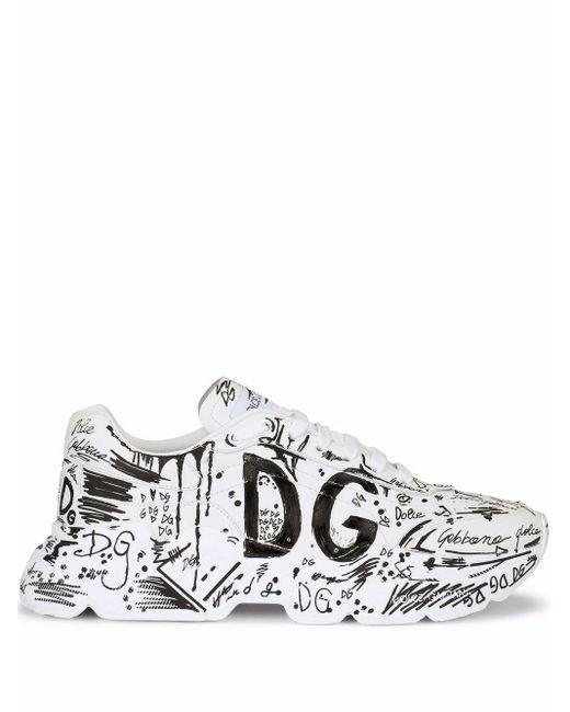 Dolce & Gabbana White Daymaster Sneakers for men