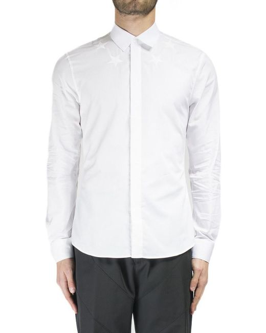 Givenchy | White Embroidered Star Shirt for Men | Lyst