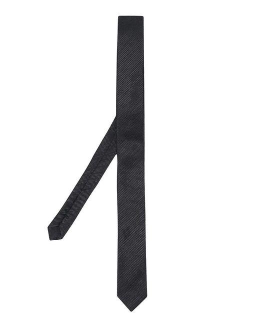 Saint Laurent Black Silk Tie for men