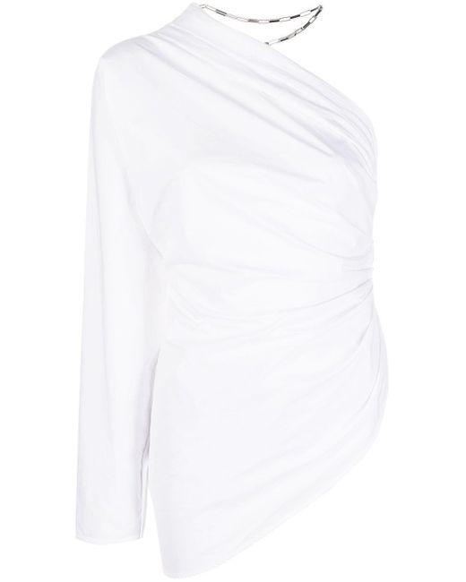 The Attico White Asymmetric Top