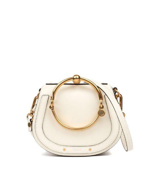 Blue Small Nile Bracelet Bag by Chloé