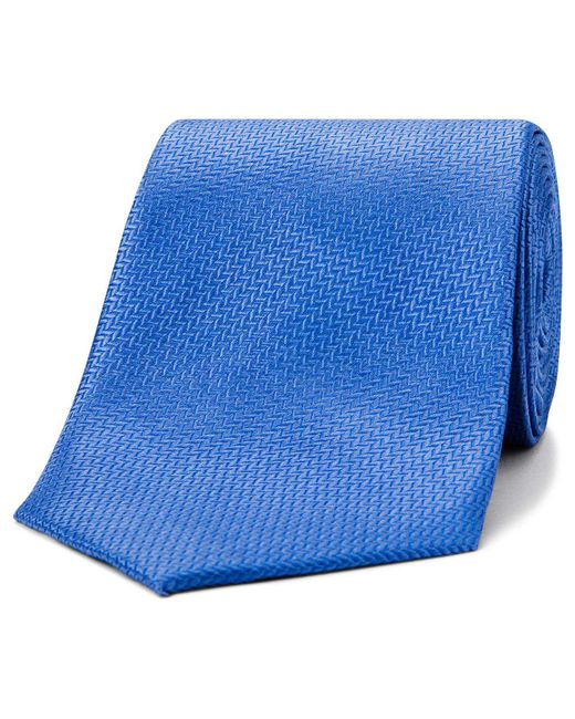 David Jones | Blue Herringbone Tie for Men | Lyst
