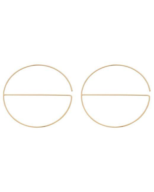 Rebecca Minkoff | Metallic Circle/bar Hoop (lg Size) Earrings | Lyst