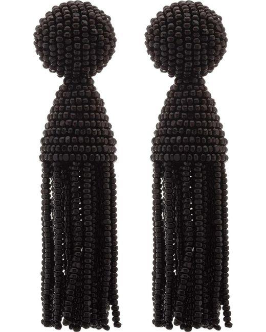 Oscar de la Renta | Black Classic Short Tassel C Earring | Lyst