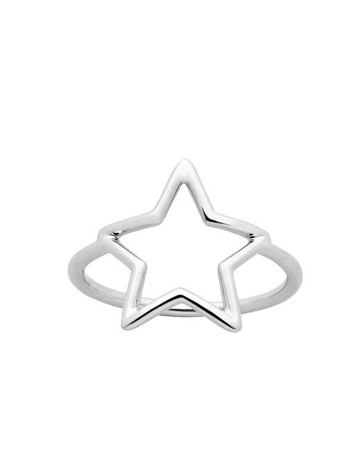 Karen Walker | Metallic Star Outline Ring Med | Lyst