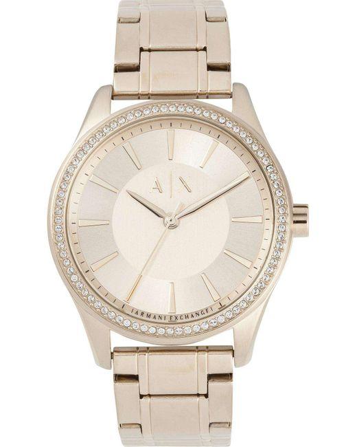 Armani Exchange | Metallic Nicolette Gold-tone Watch | Lyst