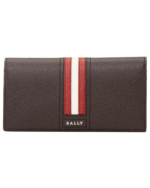 Bally Brown Taliro Leather Travel Wallet for men