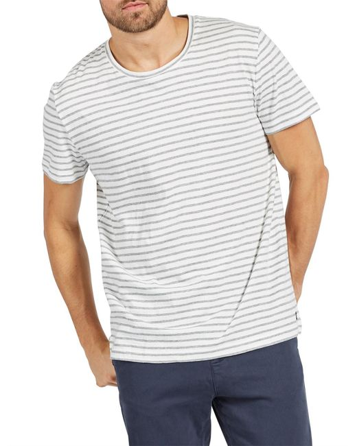 The Academy Brand - White Brentwood Tee for Men - Lyst