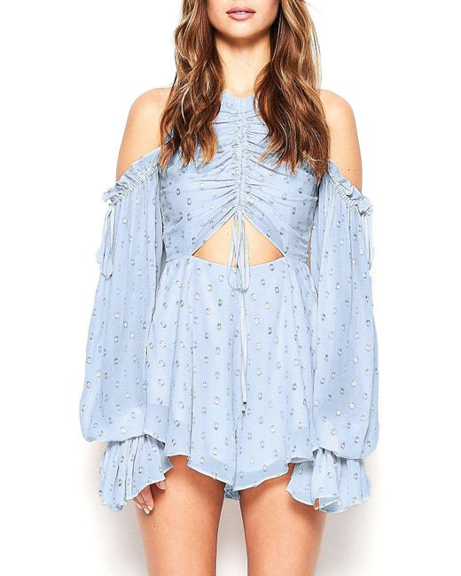 Alice McCALL | Blue Did It Again Playsuit | Lyst