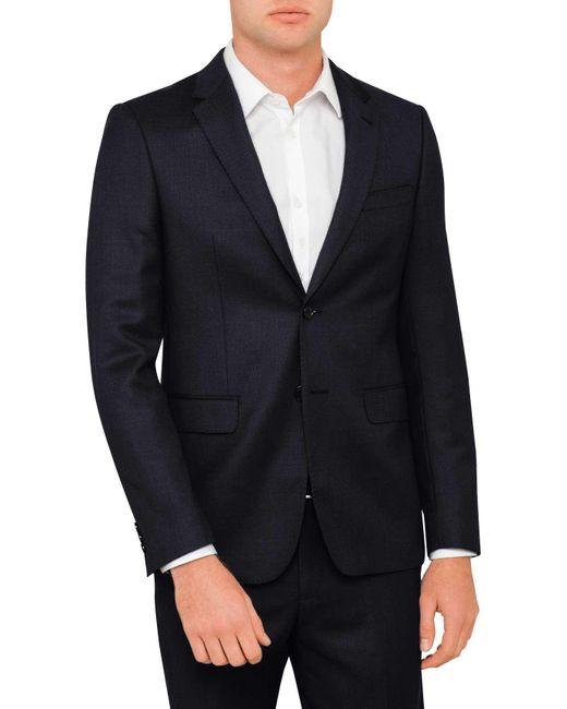 Geoffrey Beene | Gray Textured Birdseye Jacket for Men | Lyst