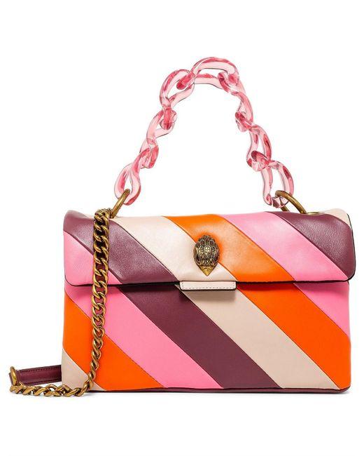 Kurt Geiger Pink Leather Soho Bag