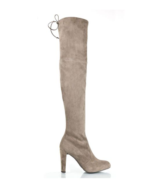 Stuart Weitzman | Natural Highland Thigh High Boot With Back Tie | Lyst