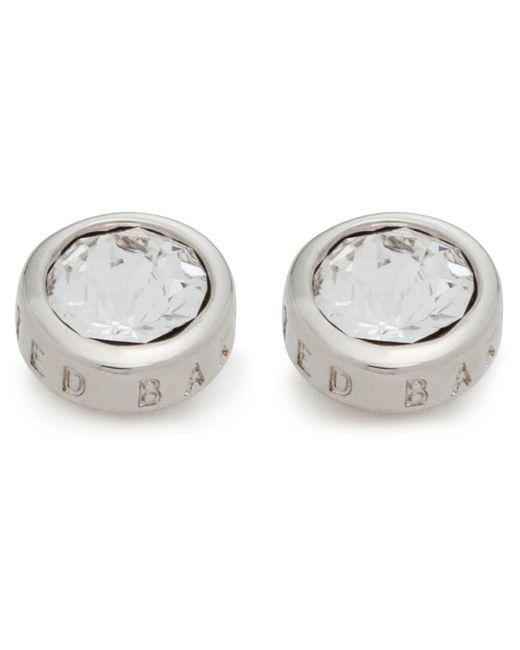 Ted Baker | Metallic Sinaa Crystal Stud Earring | Lyst