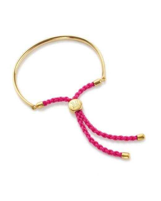 Monica Vinader | Pink Gp Fiji Friendship Bracelet | Lyst