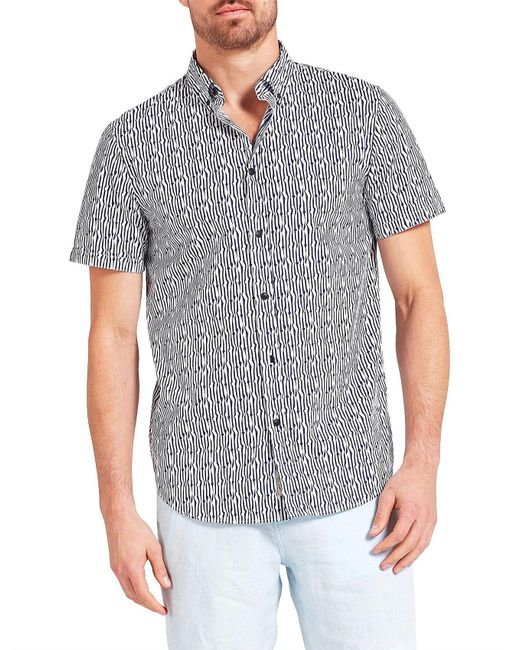 The Academy Brand - Blue Rocco S/s Shirt for Men - Lyst