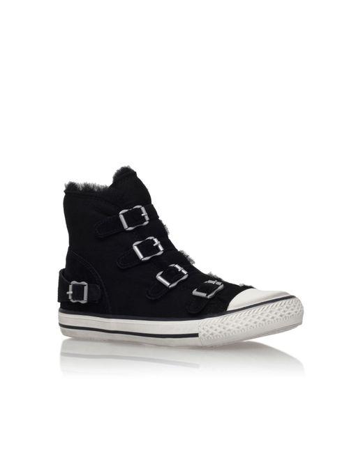 Kurt Geiger | Black Lizzy Hi-top Sneakers | Lyst