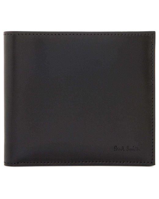 Paul Smith | Black Interior Seasonal Mini Print 8cc Bifold for Men | Lyst