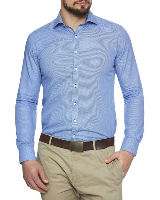 Geoffrey Beene | Blue Gualala Gingham Body Fit Shirt for Men | Lyst