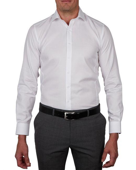Geoffrey Beene - White Tottenburg Twill Body Fit Shirt for Men - Lyst