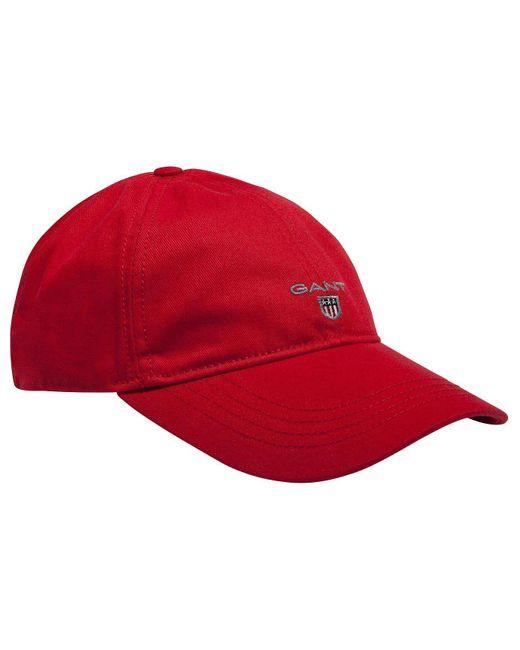 Gant | Red Contrast Twill Cap for Men | Lyst