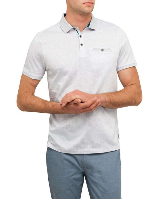 Ted Baker | Gray All Over Printed Polo for Men | Lyst