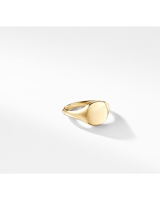 David Yurman - Metallic Dy Signature Mini Pinky Ring In 18k Gold - Lyst