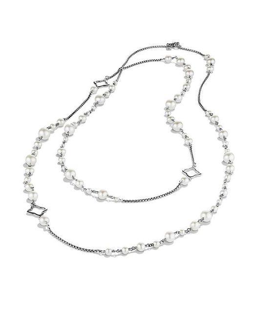 David Yurman - Metallic Bijoux Chain Necklace With Pearls - Lyst