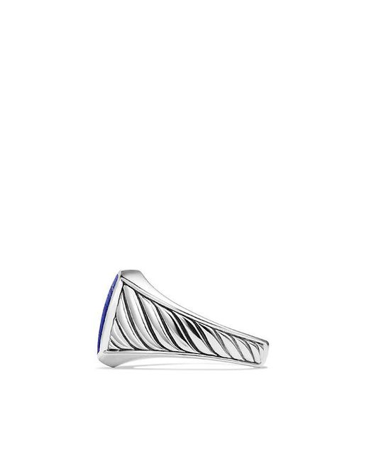 David Yurman | Blue Cable Classics Signet Ring With Lapis Lazuli | Lyst