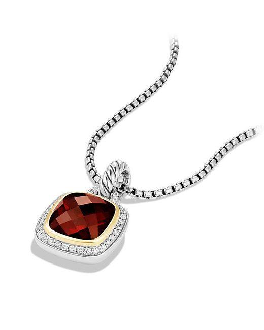 David Yurman | Metallic Albion® Pendant With Garnet, Diamonds And 18k Gold, 11mm | Lyst