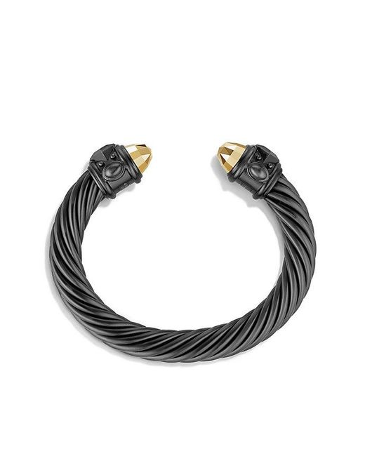 David Yurman | Renaissance Bracelet In Black And Gold Aluminum, 10mm | Lyst