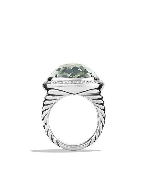 David Yurman - Metallic Oval Ring With Prasiolite And Diamonds - Lyst