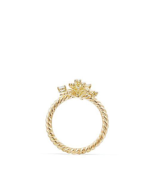 David Yurman - Metallic Supernova Ring With Diamonds In 18k Gold, 14mm - Lyst