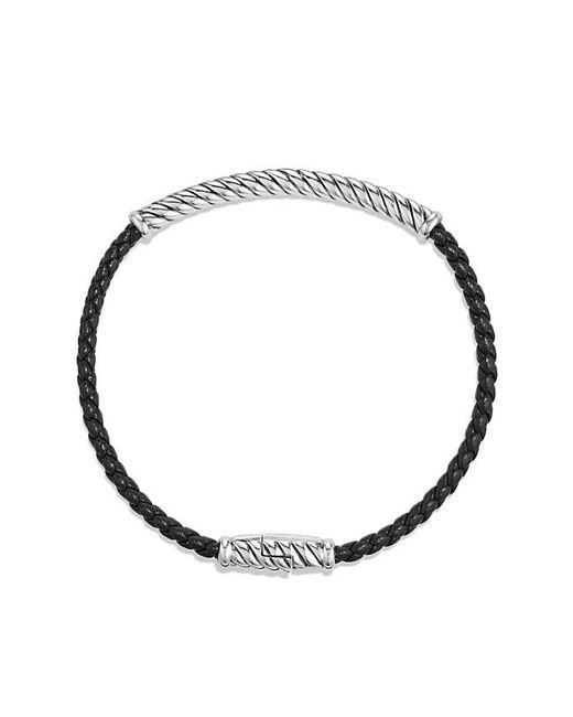 David Yurman - Cable Classic Leather Bracelet In Black for Men - Lyst