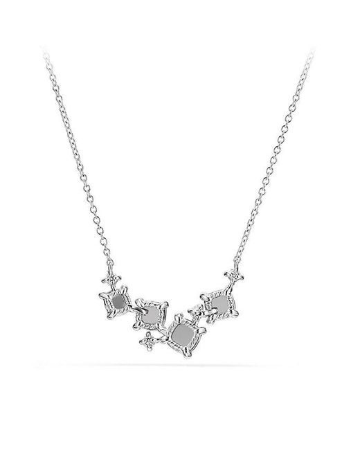 David Yurman | Precious Chatelaine® Necklace With Diamonds In 18k White Gold | Lyst