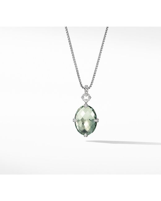 David Yurman - Metallic Chatelaine® Small Pendant Necklace With Prasiolite - Lyst