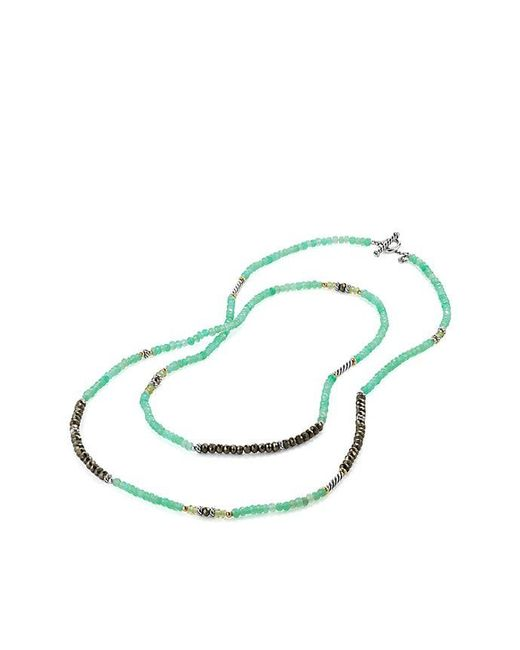 David Yurman - Metallic Tweejoux® Bead Necklace In Chrysoprase, Pyrite, And Peridot With 18k Gold - Lyst