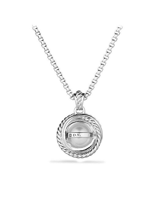 David Yurman | White Crossover® Pearl Pendant Necklace With Diamonds | Lyst
