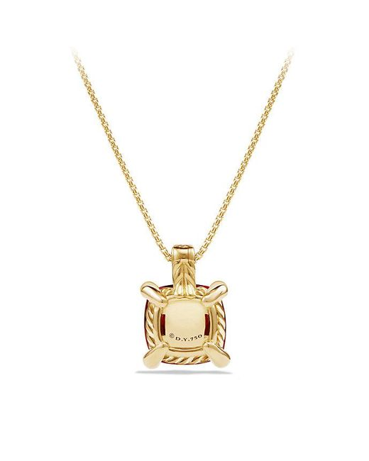 David Yurman | Metallic Châtelaine Pendant Necklace With Garnet And Diamonds In 18k Gold, 11mm | Lyst