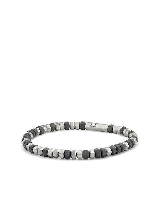 David Yurman | Gray Hex Bead Bracelet In Grey, 8mm for Men | Lyst