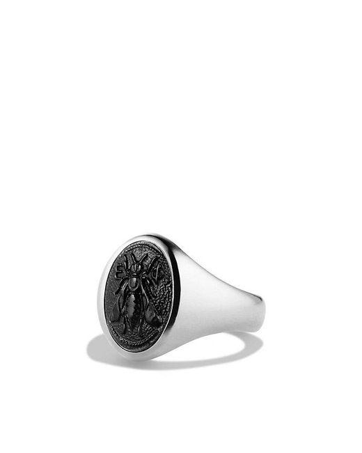 David Yurman - Petrvs Bee Signet Ring With Black Onyx for Men - Lyst