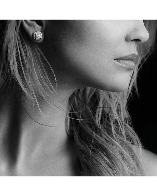 David Yurman | Metallic Albion Earrings With Black Diamonds, 7mm | Lyst