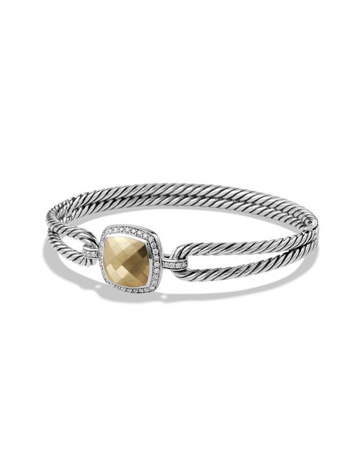 David Yurman - Metallic Albion® Bracelet With Diamonds And 18k Gold, 6mm - Lyst