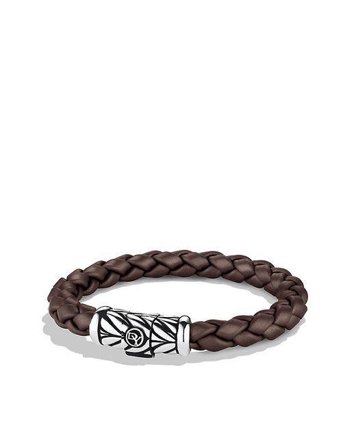 David Yurman | Multicolor Chevron Rubber Weave Bracelet In Brown, 8mm for Men | Lyst
