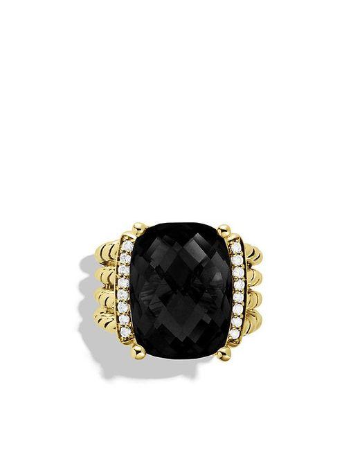 David Yurman - Wheaton Ring With Black Onyx And Diamonds In 18k Gold - Lyst