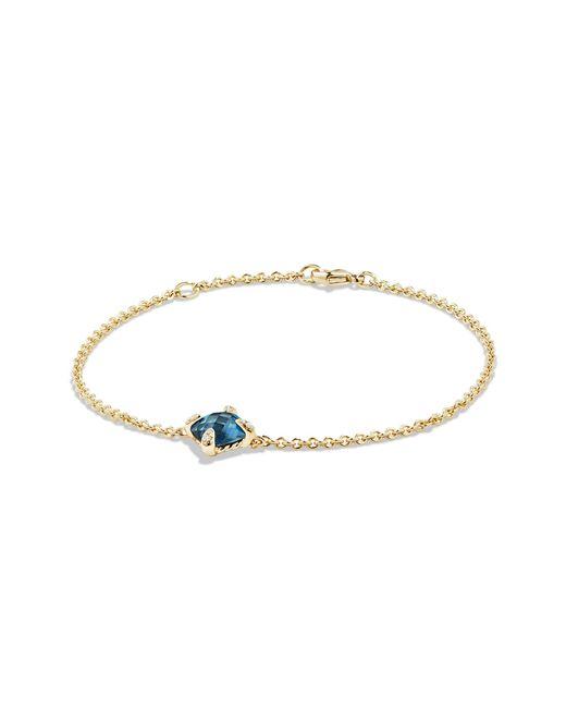 David Yurman - Châtelaine® Bracelet With Hampton Blue Topaz And Diamonds In 18k Gold - Lyst