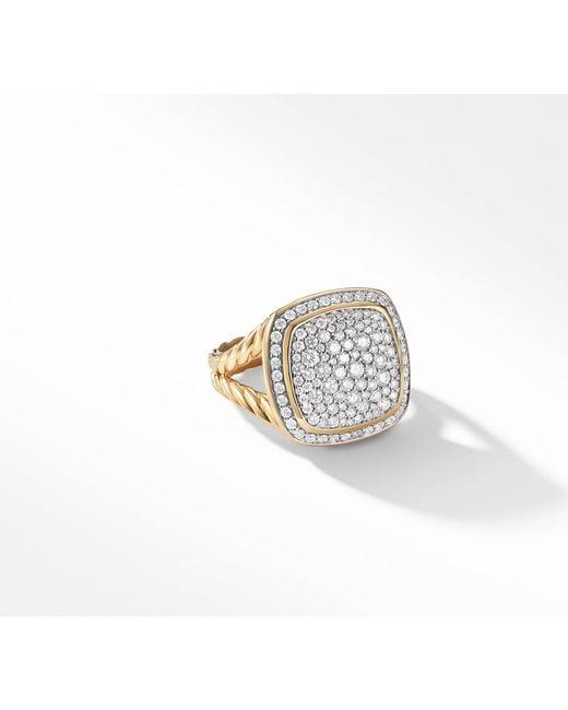 David Yurman - Metallic Albion Ring With Diamonds In 18k Gold - Lyst