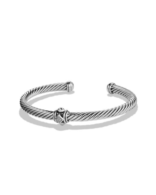 David Yurman - Metallic Renaissance Bracelet With Diamonds, 5mm - Lyst