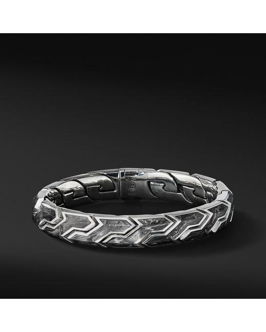 David Yurman - Black Forged Carbon Link Bracelet for Men - Lyst