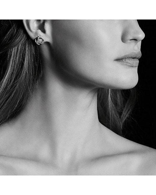 David Yurman   Metallic Crossover Earrings With Diamonds   Lyst